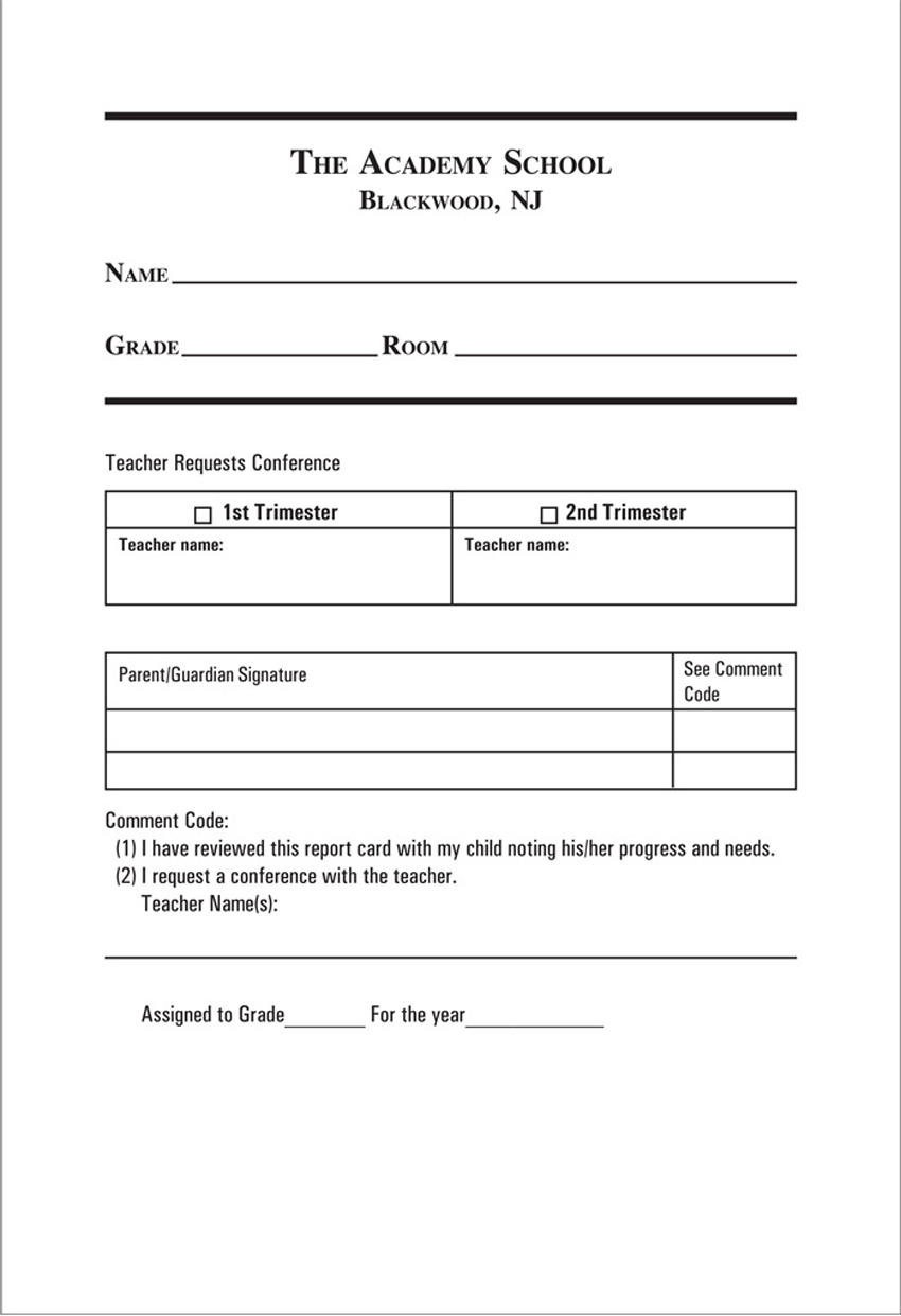 Detention Slips Pdf Slip Template